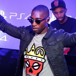 Tinie Tempeh in the PS Access Lounge for the PS4 UK launch